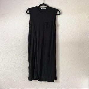 T by Alexander Wang Black Layered Dress